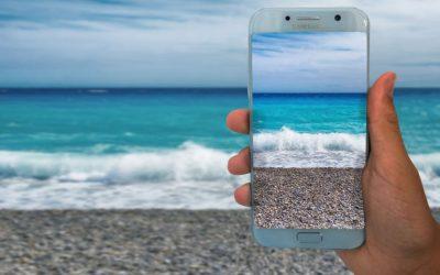 Smartfon podczas wakacji